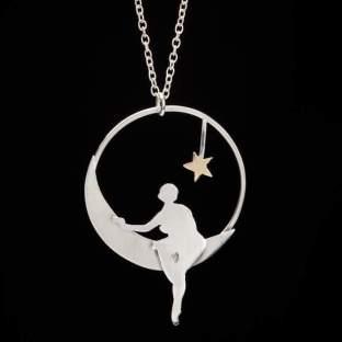 Girl on the Moon Pendant - Megan Adair, Edinburgh
